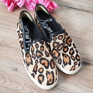 Sam Edelman Leopard Slide-On Platform Sneaker